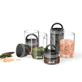 prepara - Gloss Black EVAK Glass Food Storage
