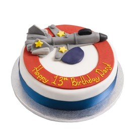 marks & spencer - jet fighter birthday cake