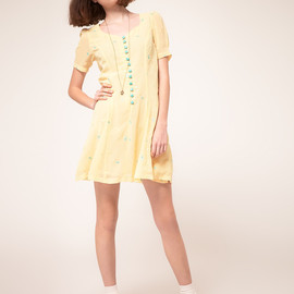 Nishe - Sweetheart Dress with Bow Embroidery