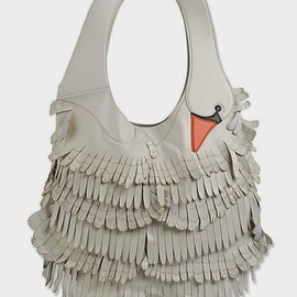 RED Valentino - SWAN BAG WITH FRINGES
