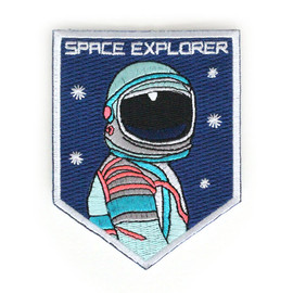 Zipper Teeth - Space Explorer Iron On Patch