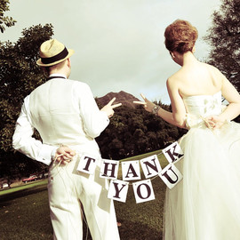 THANK YOU Cards Wedding Banner