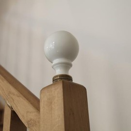 Arts&Science -Paris- Galerie Vivienne - An antique porcelain finial at the bottom of the stairs banister.