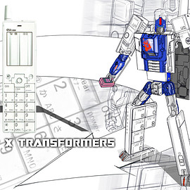 au, タカラトミー - au×TRANSFORMERS PROJECT INFOBAR OPTIMUS PRIME(ANNIN)