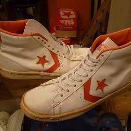 "converse - 「<used>80's converse ALLSTAR BASKETBALL MEN'S PRO HI white/orange""made in USA"" size:US9/h 24800yen」完売"