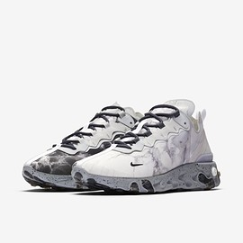 NIKE - Kendrick Lamar × Nike React Element 55  Pure Platinum/Clear-Wolf Grey-Black