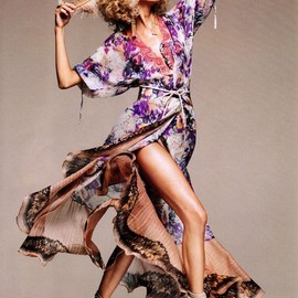 ETRO - Anja Rubik in Etro by Greg Kadel for Harper's Bazaar US January 2010