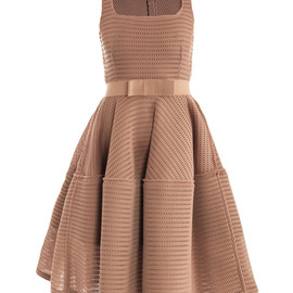 LANVIN - Honeycomb open-weave dress