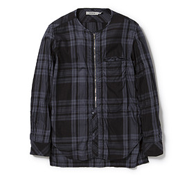 nonnative - LABORER SHIRT COTTONPLAID CHECK OVERDYED
