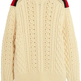 Isabel Marant - Edison oversized cable-knit wool-blend sweater