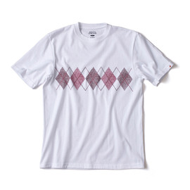 HEAD PORTER PLUS - ARGYLE TEE WHITE