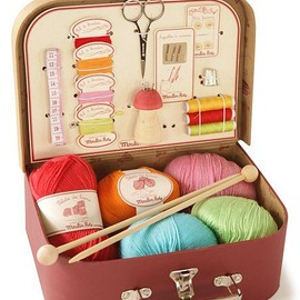 Moulin Roty - Knitting and sewing suitcase