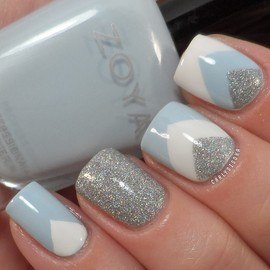 Zoya & Chinaglaze & Sinful Colors - Zoya- Blu, Chinaglaze- Glistening Snow and Sinful Colors- Snow Me White