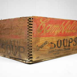 campbell's - Vintage Early 1900's Wooden Dovetailed Campbell's Tomato Soup Shipping Crate