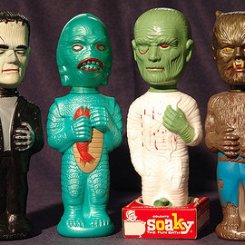 Colgate Palmolive - 1960's UNIVERSIAL MONSTERS Soaky  Bottles