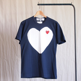 PLAY COMME des GARCONS - 綿天竺(赤エンブレム) T-Shirt #navy