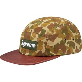 Supreme - Camo Leather Camp Cap