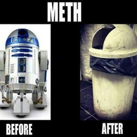STAR WARS - R2-D2 Meth – before and after