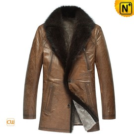 CWMALLS - Italian Leather Fur Coats for Men CW878505
