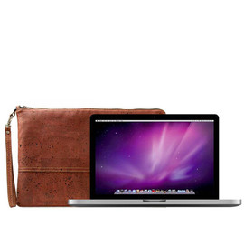 "Corkor - MacBook Pro 13"" Cork Handmade Padded Laptop Wristlet Sleeve, Gear Gift Idea"