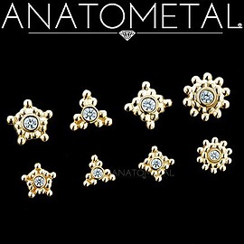 Anatometal - K18YG Sabrina threaded end