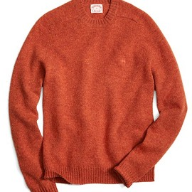 Brooks Brothers - Shetland Wool Saddle Shoulder Crewneck Sweater