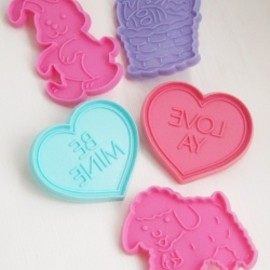 Hallmark 他 - Vintage【HEARTS with EASTER BUNNY,LAMB,BASKET】クッキー型 5個セット