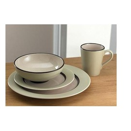 Denby - Intro Naturals 16 Piece Tableware Set - Tan