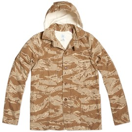 Post Overalls - Lined Hooded Sweetbear Jacket - Desert Tiger