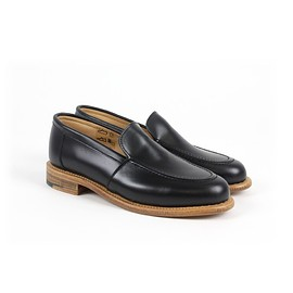 YMC - women's leather loafer black