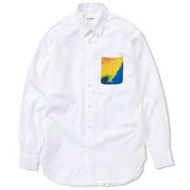 A.FOUR - TIE-DYE POCKET SHIRT