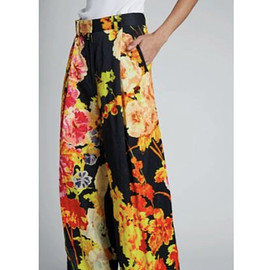 DRIES VAN NOTEN - flower print pants