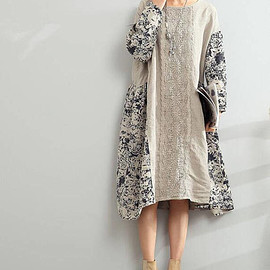 linen dress - linen dress Loose Oversize Dress/ Linen large size asymmetrical dress summer dress