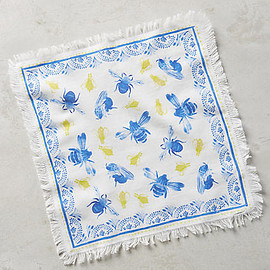 anthropologie.com - Les Vacances Cocktail Napkin - anthropologie.com-BLUE BEE