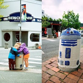 Sarah Rudder - Yarn bombing - R2D2