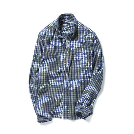 SOPHNET. - CAMOUFLAGE OVER PRINT B.D SHIRT