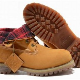 timberland roll top mens waterproof boots wheat red