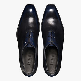 Berluti - Alessandro Demesure Leather Oxford, BLACK BLUE