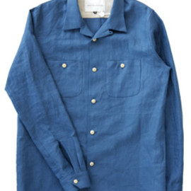 ANALOG LIGHTING - Open Shirt (blue linen)