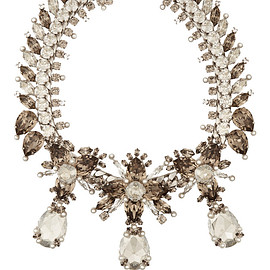 GIVENCHY - Palladium-tone, crystal and faux pearl necklace $3,448