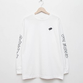 cup and cone - Long Sleeve Tee - White