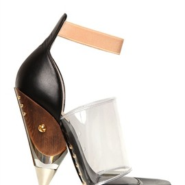 GIVENCHY - 120MM VINYL AND CALFSKIN SANDALS