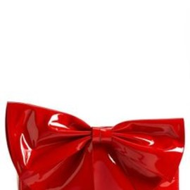 VALENTINO - Red shiny bow clutch