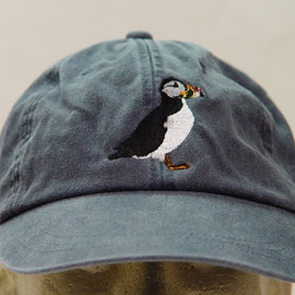 PUFFIN BIRD HAT - One Embroidered Wildlife Cap - Price Embroidery Apparel - 24 Color Caps Available