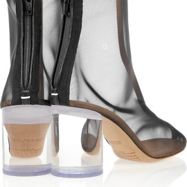 margiela - leather trimmed mesh and perplex boots