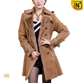 CWMALLS - Women Shearling Lined Long Coat CW640213