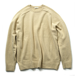 UNIVERSAL PRODUCTS - OVERSIZE CREW NECK KNIT/BEIGE