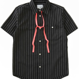 NuGgETS - Work Shirt with Robbon- Stripe (black)