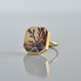 Gabriella Kiss - Octagonal Dendritic Quartz Ring
