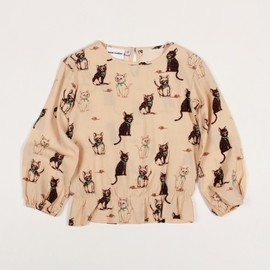 mini rodini - KITTEN BLOUSE BEIGE